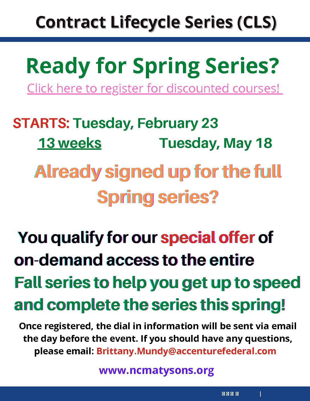 Spring Series- CLS Registration