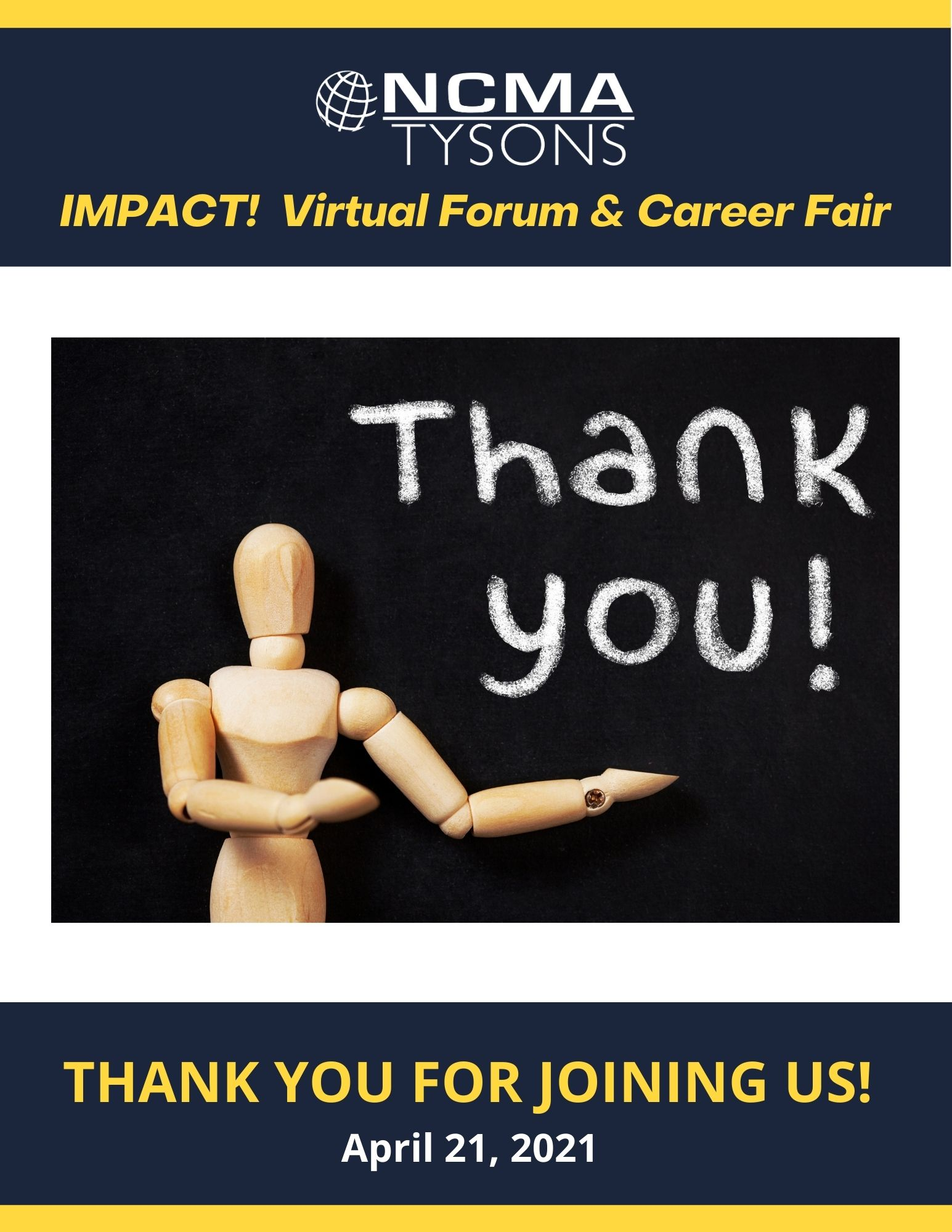 Thank you for attending the Impact Forum and Career Fair!