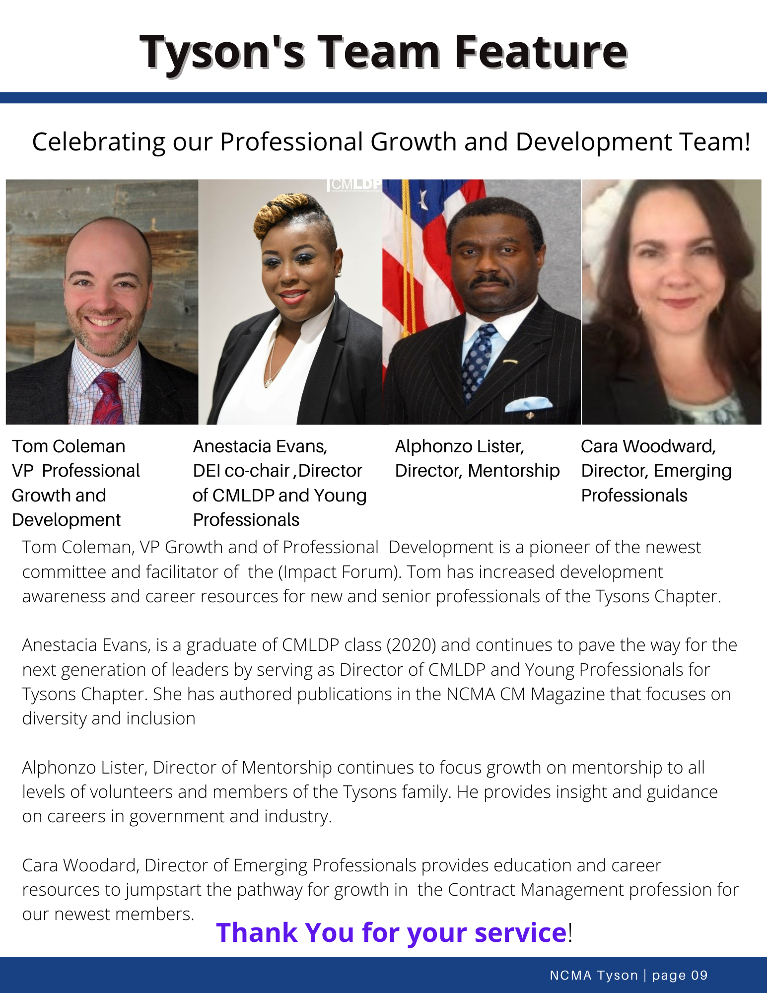 Tysons Team Feature_Professional Growth and Development